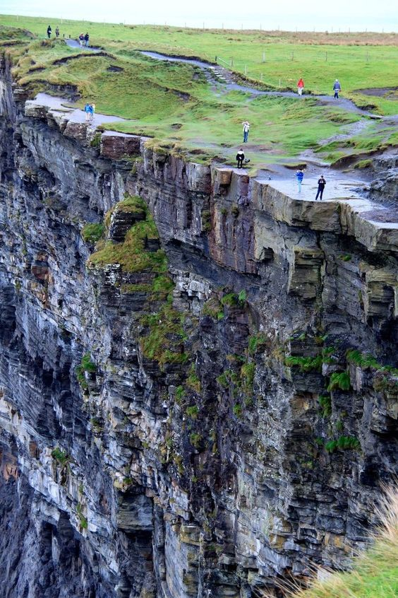 Oh my! I don't go that close to the edge. Cliffs of Moher - Ireland's Top 10 Attractions: