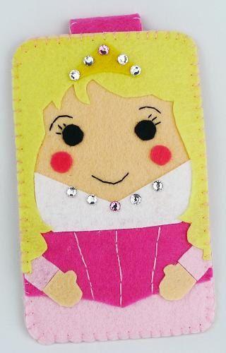 Colección princesa bella durmiente disneyland Handmade fieltro teléfono caso iphone, samsung, Htc, Mac book, ipad, ipad mini