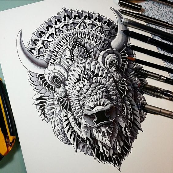 """Reposting an old favorite of mine """"Bison"""". Thanks for viewing!!! by bioworkz"""