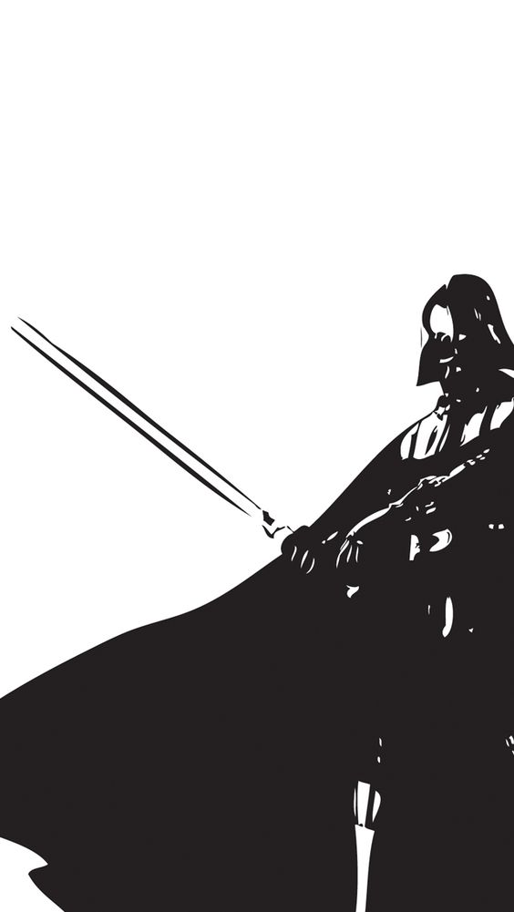 Darth vader iphone wallpapers and darth vader star wars for Darth vader black and white