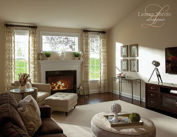 interior design in charlotte nc - Brown sectional, Window treatments and Family rooms on Pinterest