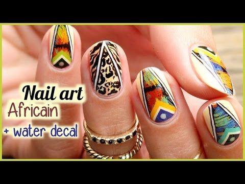 NAIL ART Africain imprimé animal 💅 - YouTube