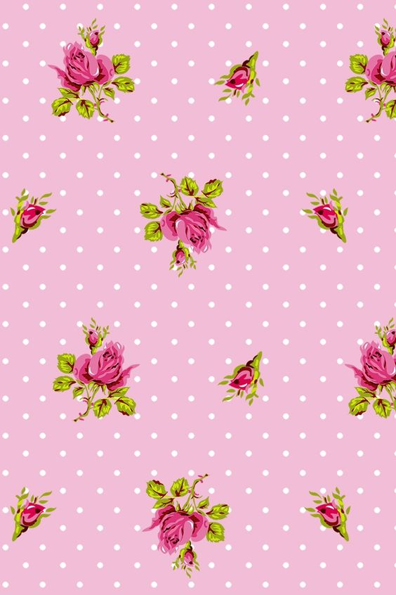 PiP Roses and Dots Pink wallpaper