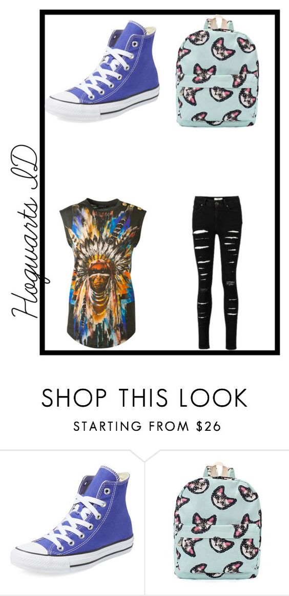 """""""inspired"""" by the-blueglasses ❤ liked on Polyvore featuring Converse and Balmain"""