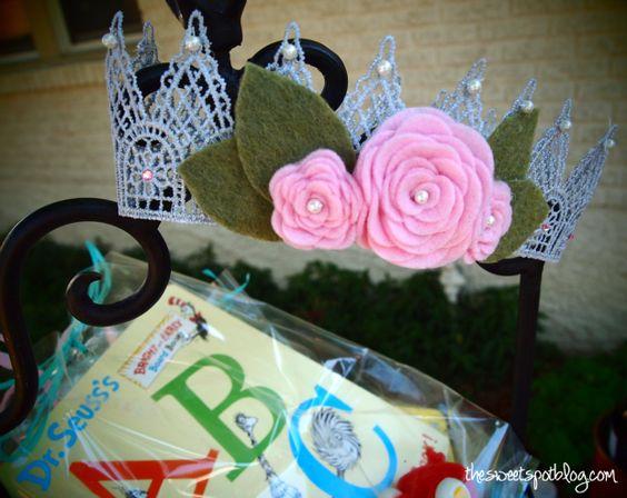 Shabby Chic First Birthday Crown
