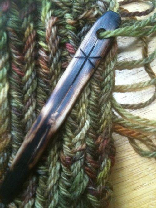 nadelbinde nadel aus besteck! nålbinding - Korgen stitch