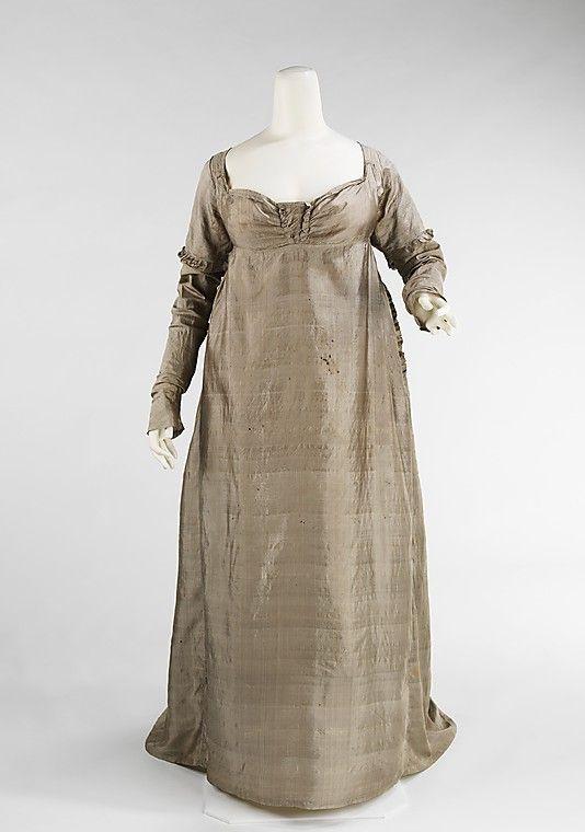 Vestido de EEUU de 1805 de seda. #Metropolitan No.2009.300.2314