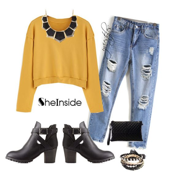 """""""mustard... no ketchup"""" by yviestyle ❤ liked on Polyvore featuring Charlotte Russe"""