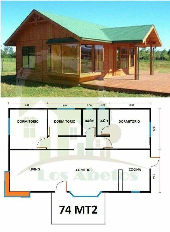 7 Modelos De Casas De Campo Bien Sencillas Disenos De Casas De Campo Disenos De Casas Casas Prefabricadas