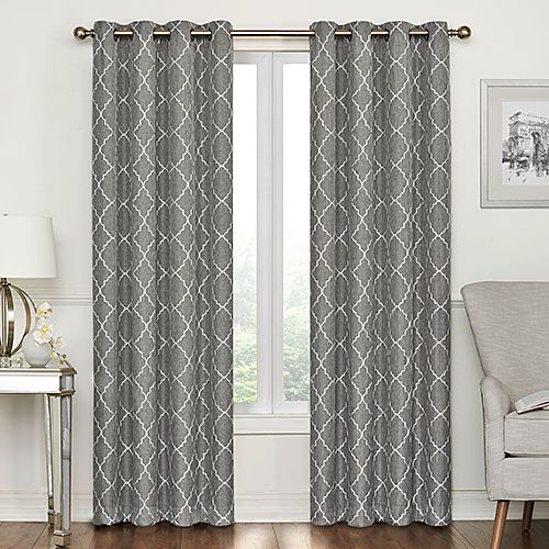 Lakewood Embroidered Blackout Grommet Curtain Panel Grommet