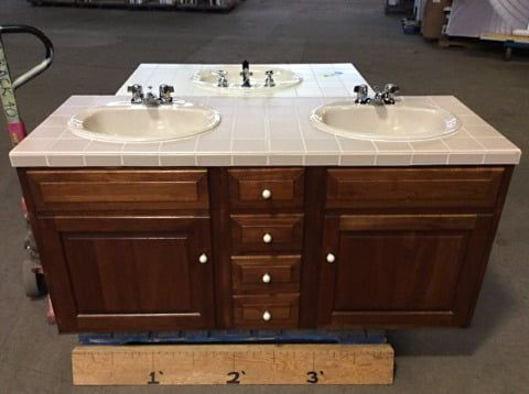 Monday Featured Finds 2 19 18 Every Monday We Update Our Main Page At Cjreuse Org With 4 New Featured Items To Help Kickst Double Vanity Base Cabinets Sink