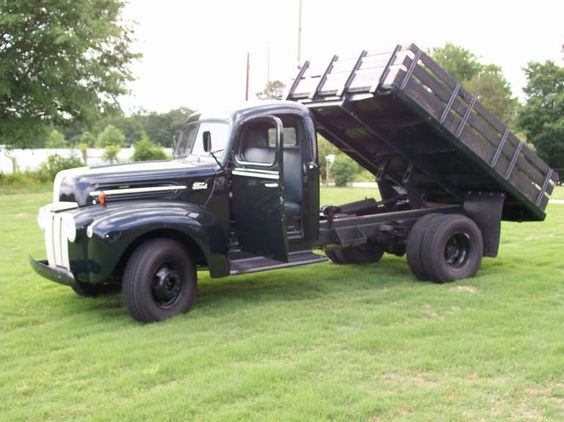 1947 ford pickup 1 2 ton dump truck with 9 ft flatbed for sale in homer georgia my old truck. Black Bedroom Furniture Sets. Home Design Ideas
