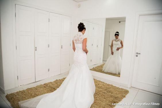 Vestido de noiva sereia com cauda