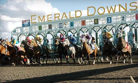 $10 for a Horseracing Package with Souvenir Program and Food Voucher at Emerald Downs (Up to $19.50 Value)