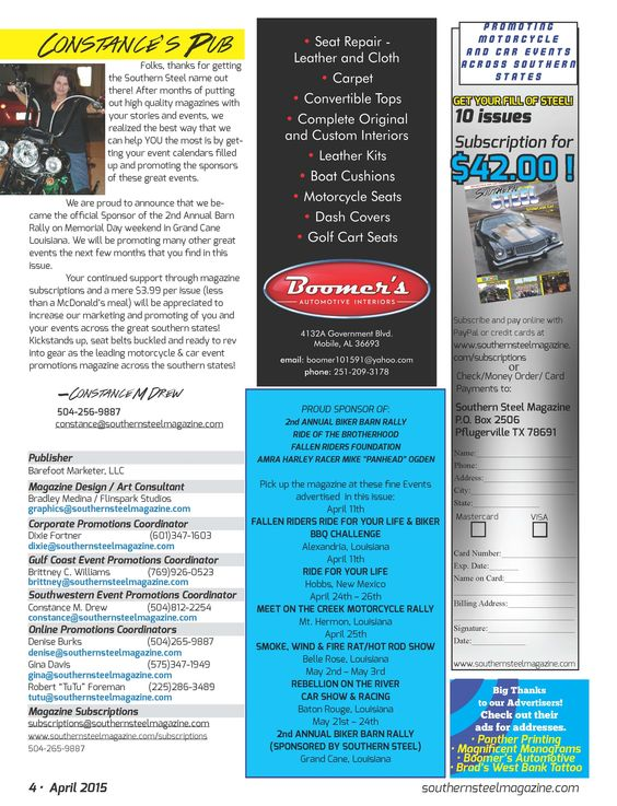 Southern Steel Motorcycle & Car Event Promotions new direction