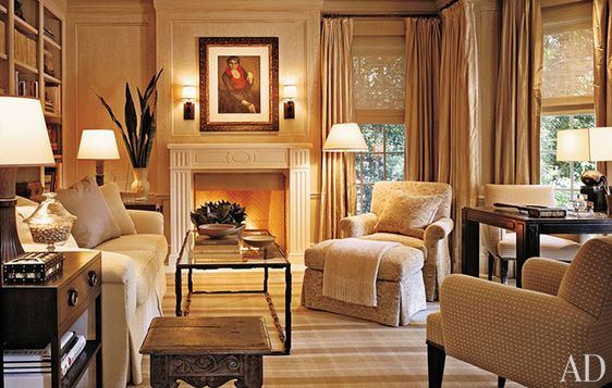 Plaid Rooms Fireplaces Furniture And Punch