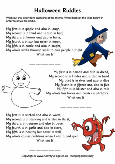 halloween riddles for kids - Halloween Quiz For Kids