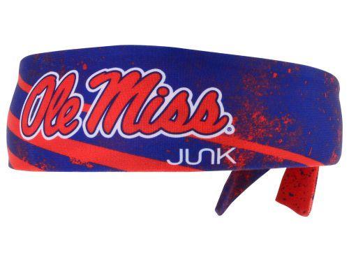Mississippi Rebels Junk Brands NCAA Flex Tie Headband Hats Hattish