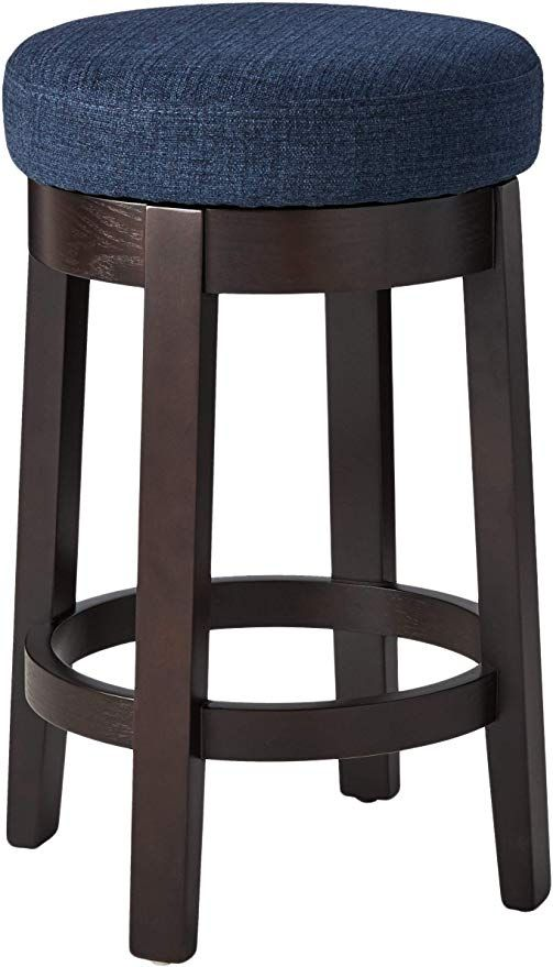 Amazonsmile Ravenna Home Backless Counter Height Kitchen Bar Stool With Swivel Seat 26 H Midnight Kitchen Dining In 2020 Kitchen Bar Stools Bar Stools Stool