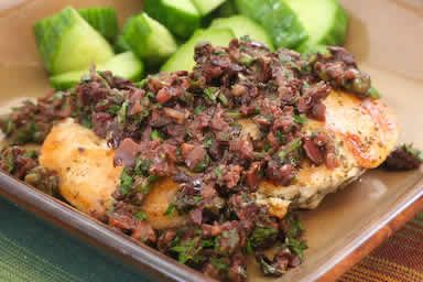 Chicken with Olive and Caper Sauce