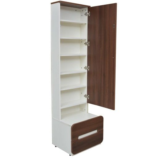 Buy Scion Dresser In White Lily Walnut Finish By Crystal Furnitech Online Dressers Tables Furniture Pepperfry Product Dressing Table Mirror Design Dressing Table Storage Fine Bedroom Furniture