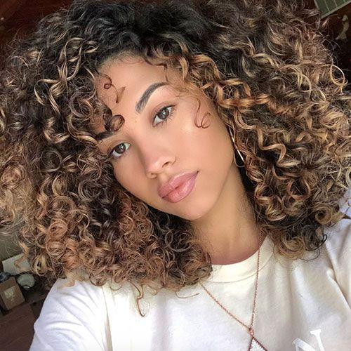 65 Best Brown Hair With Highlights Ideas Dark Medium Light Colors In 2020 Curly Hair Styles Naturally Curly Hair Styles Ombre Curly Hair
