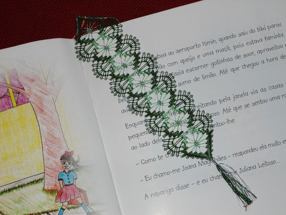 Bobbin lace bookmarker by CieloBluHandcrafts on Etsy