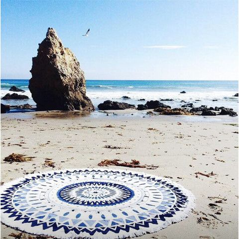 Picnic Rug Or Beach Towel Majorelle Roundie By The