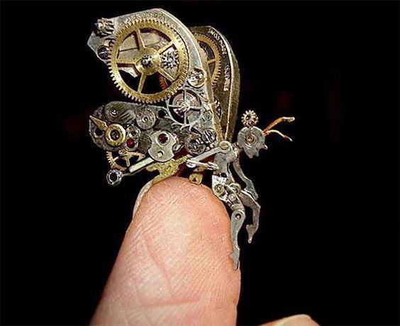 Picture 668 « Peças de relógios antigos viram esculturas de pessoas e animais | CONTEM