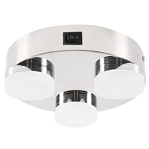 Facon 8 Inch Led Ceiling Dome Light Fixture Decorative Rv Flush Mount Lamp 3 Led Lights With On Off Switch And In 2020 Dome Light Fixture Dome Lighting Ceiling Domes