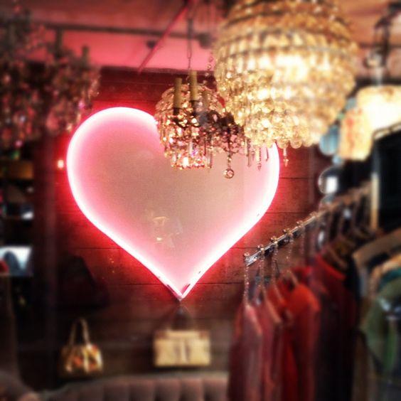Heart light in Shoreditch