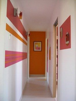 Peinture couloir deco pinterest for Decoration hall et couloir