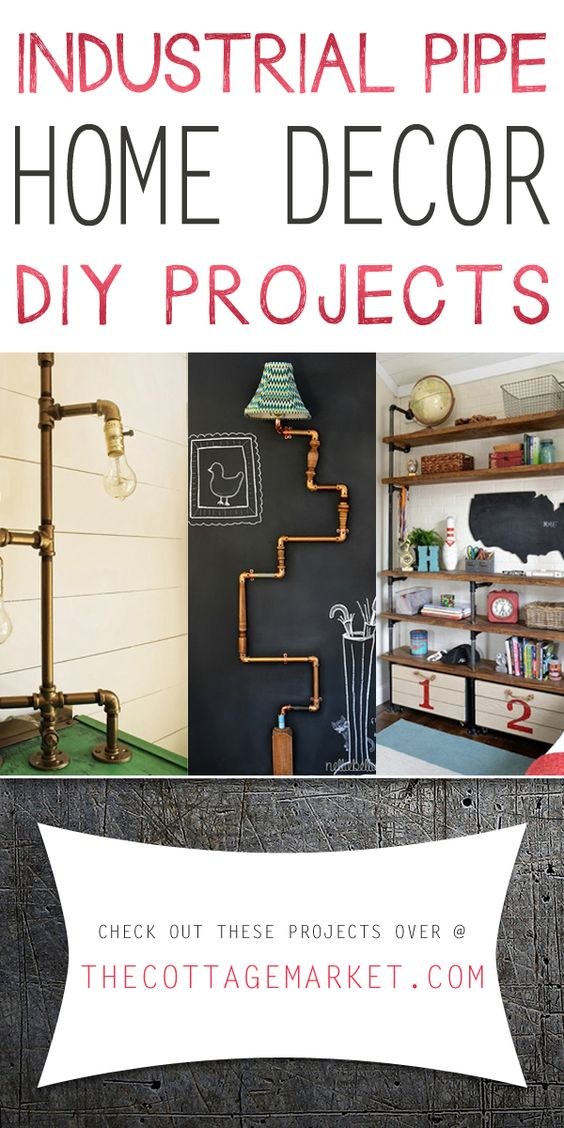 industrial pipe home decor diy projects the cottage