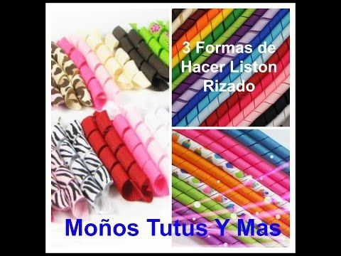 COMO HACER LISTON RIZADO Horno y Microondas KORKER RIBBON Made in the Oven and Microwave - YouTube