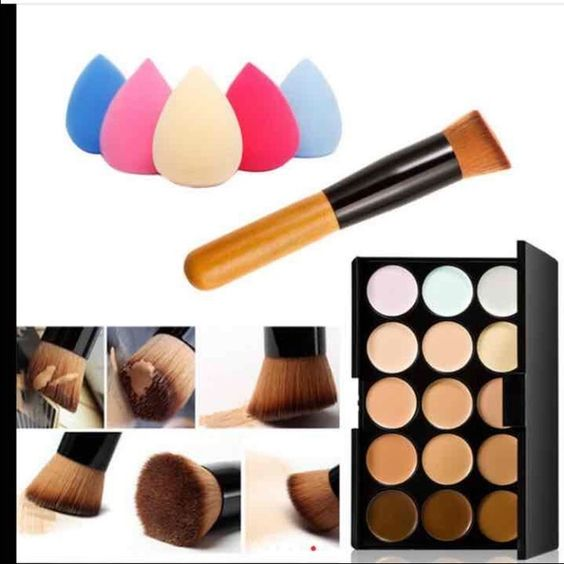 1 Makeup Palette + 1 Sponge Puff + 1 Brush 15 Colors Contours  Face Cream Makeup Concealer Palette + 1 Sponge Puff + 1 Brush . Brand new in package. Makeup Blush