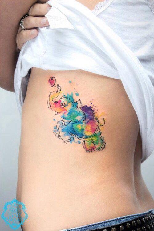 Really cute elephant #tattoo