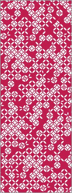 バラ七宝の幾何学模様