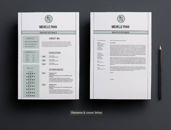 2 page resume template Cover letter resume, Fonts and Resume tips