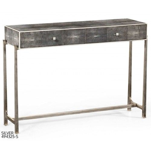 Faux Shagreen Console Table |