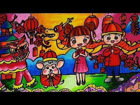 Cara Menggambar Mewarnai Tema Chinese New Year Tahun Baru Imlek