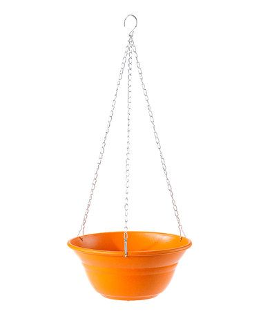 Another great find on #zulily! Orange Biodegradable Hanging Planter #zulilyfinds