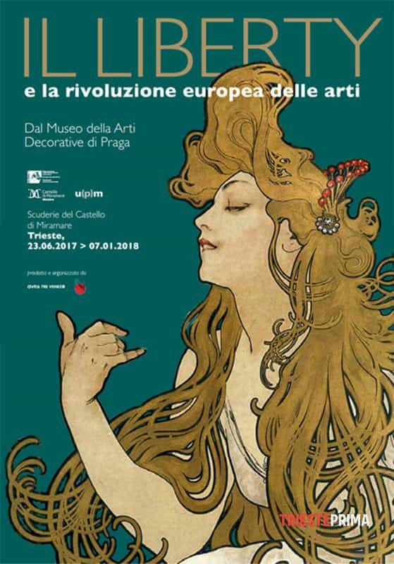 il liberty e la rivoluzione europea delle arti - Trieste - Locandina