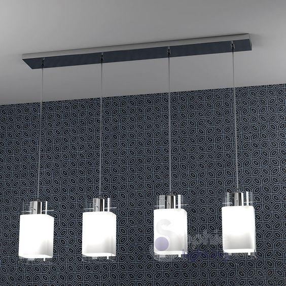 Dettagli su lampadario lampada sospensione design moderno for Design moderno di portico in vetro