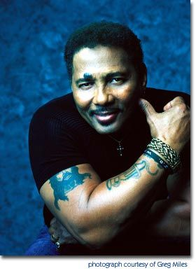 "Aaron Neville tough guy look, voice of an angel.when he sings ""jesus loves me""-i cry."