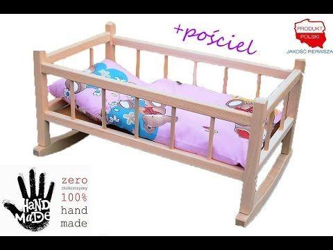 Kolyska Drewniana Dla Lalek Z Posciela Www Kochamzabawki Eu Toddler Bed Bassinet Home Decor