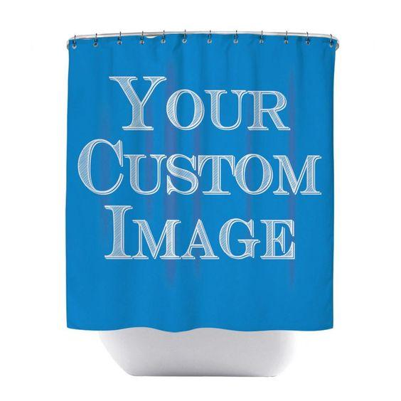 Unique Personalized Custom Shower Curtain Bathroom Decor Custom Shower Curtains Custom Shower Custom Curtains