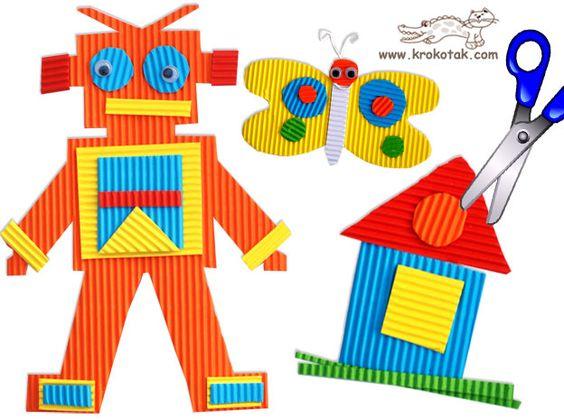 TARJETAS y figuras de cartón ondulado | krokotak