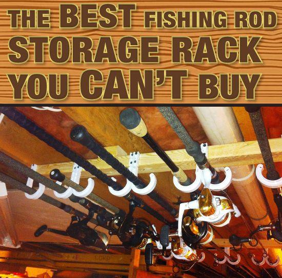 Wall Mount Fishing Rod Holder Horizontal 10-Rod Black Fishing Rod Rack Storage