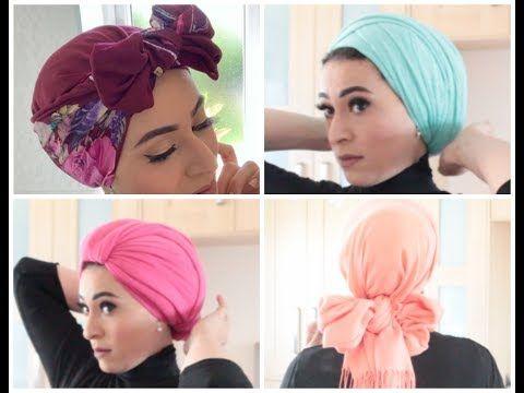 مع فاطيما سالم لفات طرح تربون وسبانيش للمصيف والصيف Youtube Turban Hijab Hijab Fashion Cute Hairstyles