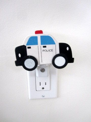 Police car Night Light  Baby room nursery by cvhdesigns1 on Etsy. , via Etsy.: